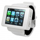 "i5 GSM Watch Phone w / 1,8 ""Resistive, Quad-Band, Single-SIM-und FM - White"