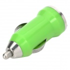 Car Cigarette Powered Charging Adapter with USB Data/Charging Cable for iPhone / iPad - Green