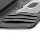 Protective Flip-Open PU Leather Case for Iphone 4S - Black