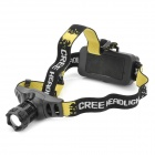 Cree Q5 160-Lumen 3-Mode White LED Headlamp - Black (1 x 18650)