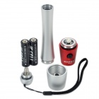 SLH-H602 1W LED 100LM 1-Mode White Flashlight - Silver + Red (2 x AA)