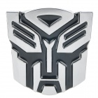 Cool 3D Transformers Style Car Decoration Sticker - Silver + Black