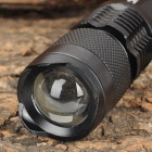 Raysoon Cree XR-E Q5 3-Mode 100LM Warm White Flashlight w/ Headband / Accessories - Black (1x14500)