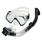 Scuba Diving Snorkeling Silicone Mask Set-Black