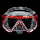 Scuba Diving Snorkeling Silicone Mask Set-Red