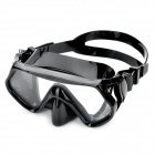 Scuba Diving Snorkeling Silicone Mask Set(Black)