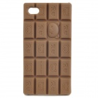 Nette Rilakkuma Pattern Chocolate Bar Style-Silikon-Hülle für iPhone 4 / 4S - Kaffee
