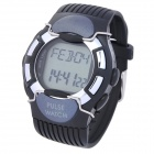 Digital Pulse Rate Calories Counter Timer Watch with Alarm/Stopwatch/LED Backlit - Black (1xCR2023)