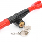 Anti-Theft Car Steering Wheel Security Lock - Black + Red