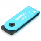 Genuine Kingmax 360 Degree Rotation USB Flash Drive with Strap - Blue (4GB)