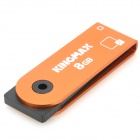 Genuine Kingmax 360 Degree Rotation USB Flash Drive with Strap - Orange (8GB)