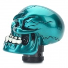 Cool Skull Style Resin Car Gear Shift Knob - Blue