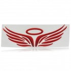 3D Red PVC Waterproof Angel Wings Halo Car Motor Badge Decal Sticker