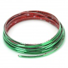 3D 5M DIY Car Decoration Moulding Trim Decorative Strip - Green