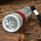 SLH-H603 1-LED 60LM 1-Mode White Flashlight - Silver + Red (1 x AA)