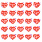 Heart Shaped Brooch with Flashing Blue &amp; Red LED Light (25-Pack / 3 x LR41)