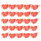 The Arrow of Love Heart Shaped Brooch with Flashing Blue & Red LED Light (25-Pack / 3 x LR41)