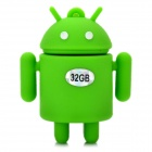Android Robot Style USB 2.0 Flash Drive - Green (32GB)