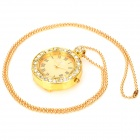 Gold-plated Pocket Watch Rhinestone USB Flash Drive - Golden