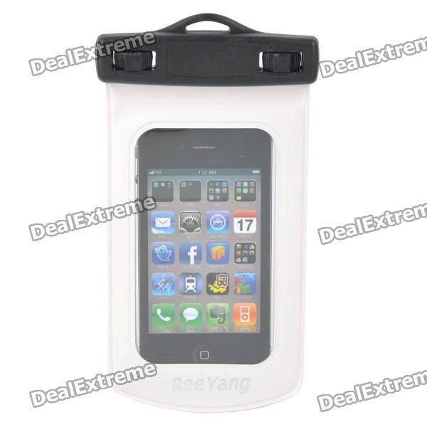 Universal Stylish Waterproof Bag for Iphone / Cell Phone - White + Black viruses cell transformation and cancer 5