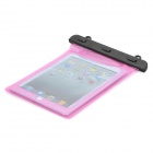Stylish Waterproof Bag with Neck Strap for iPad / iPad 2 / The New iPad - Transparent Pink