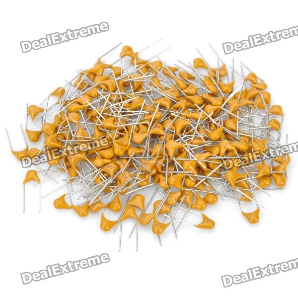 10PF 50V chumbo Multilayer Ceramic Capacitor - Amarelo (bloco da parte-210)