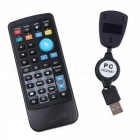 PC Remote Controller w/ USB Wireless Receiver - Black