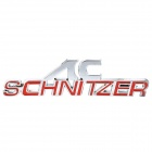 Cool AC-Schinitzer Logo Car Decoration Sticker - Silver + Red
