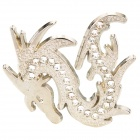 Cool 3D Dragon Style Car Decoration Sticker - Silver