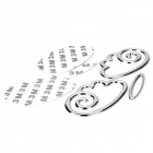 Cool 3D Angel Style Car Decoration Sticker - Silver (3-Piece)