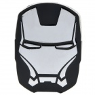 Cool 3D Iron Man Style Car Decoration Sticker - Silver + Black
