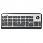 3-in-1 51-Key Keyboard + Trackball Mouse + IR Infrared Remote Controller for PC/Smart TV - Silver