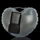Heart Style Solar Powered 1W 6500K 100LM 2-Mode 1-LED Inflatable Lamp Bag