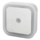 Light-Activated Square Shaped LED Night Light Lamp - White (2-Flat-Pin Plug / 110~220V)