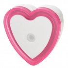 Light-Activated Heart Shaped LED Night Light Lamp - Pink + White (2-Flat-Pin Plug / 110~220V)