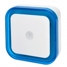 Light-Activated Square Shaped LED Night Light Lamp - White + Blue (110~220V)