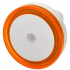 Light-Activated Circular Shaped LED Night Light Lamp - White + Orange (110~220V)
