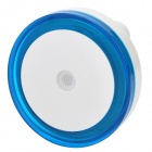 Light-Activated Circular Shaped LED Night Light Lamp - White + Blue (110~220V)