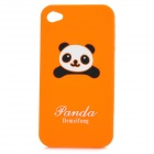 Cute Panda Pattern Protective Soft Silicone Case for Iphone 4 / 4S - Orange