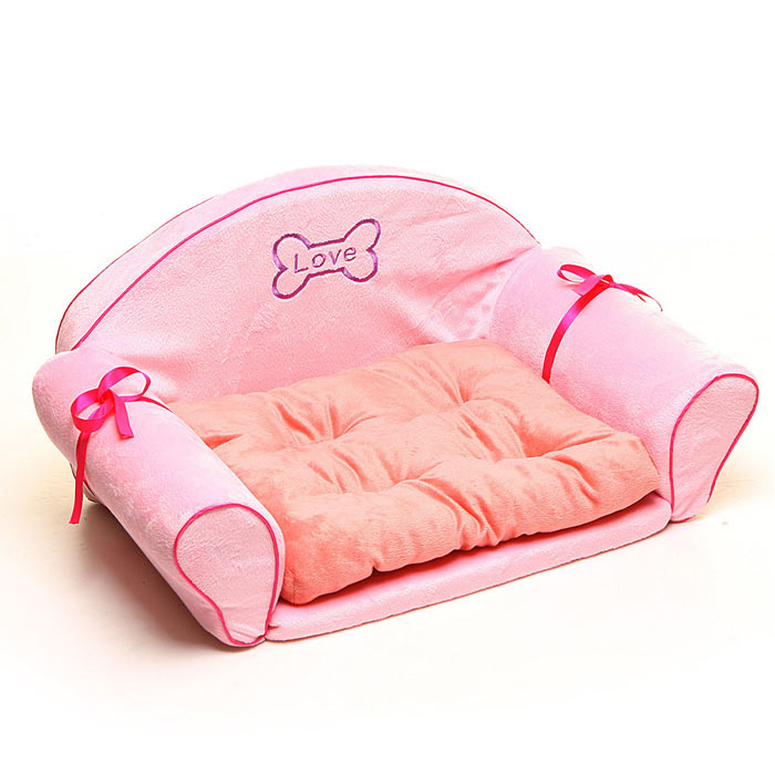 Aristocratic Comfortable Pet Sofa Bed w/ Mat - Pink