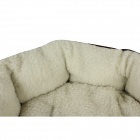 Comfortable Pet Bed w/ Mat - Deep Brown + White (M)
