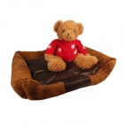 Comfortable Warm Pet Bed w/ Mat - Coffee (M)