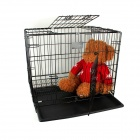 Folding Iron Wire Pet Cage with Plastic Spraying Tray (L)