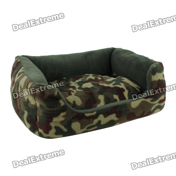 Comfortable Warm Pet Bed - Army Green (S)