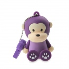 Lovely Cartoon Monkey Style USB 2.0 Flash Memory Drive Stick - Purple (4GB)