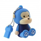 Lovely Cartoon Monkey Style USB 2.0 Flash Memory Drive - Blue (4GB)