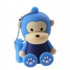 Lovely Cartoon Monkey Style USB 2.0 Flash Memory Drive - Blue (32GB)