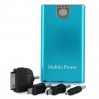 Portable 3300mAh External Mobile Power Battery Charger w/ Adapters - Blue