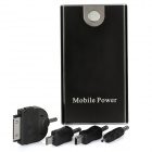 Portable 3300mAh External Mobile Power Battery Charger w/ Adapters - Black