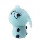 Cute Baby Elephant Shaped USB 2.0 Flash Memory Drive - Light Blue (4GB)
